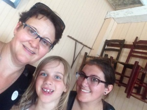 My girls and I at #Lowerfortgarry learning and celebrating my heritage